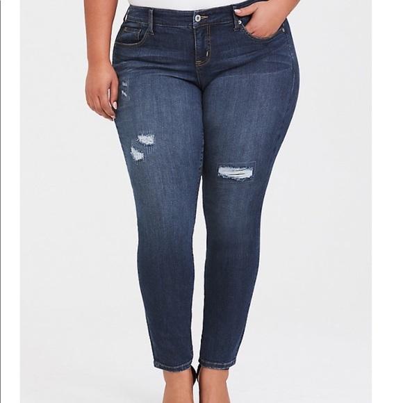 Premium stretch skinny jean dark wash NWT